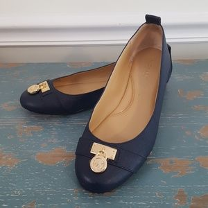 Michael Kors Navy Ballerina Flats